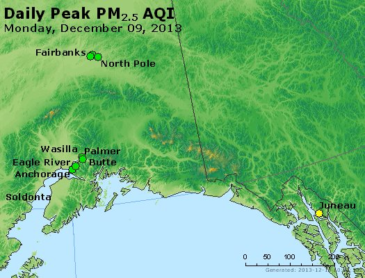 Peak Particles PM<sub>2.5</sub> (24-hour) - http://files.airnowtech.org/airnow/2013/20131209/peak_pm25_alaska.jpg