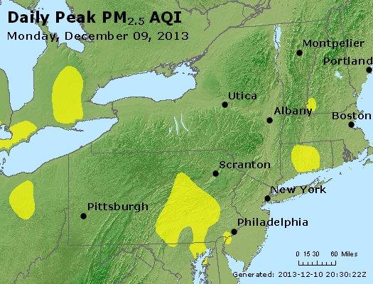 Peak Particles PM<sub>2.5</sub> (24-hour) - http://files.airnowtech.org/airnow/2013/20131209/peak_pm25_ny_pa_nj.jpg