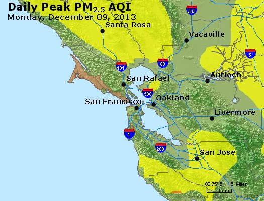 Peak Particles PM<sub>2.5</sub> (24-hour) - http://files.airnowtech.org/airnow/2013/20131209/peak_pm25_sanfrancisco_ca.jpg