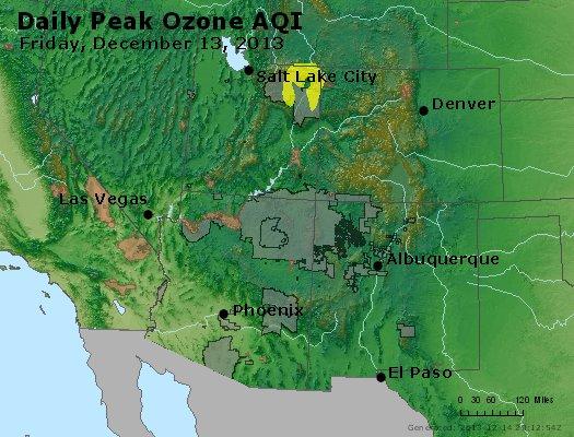 Peak Ozone (8-hour) - http://files.airnowtech.org/airnow/2013/20131213/peak_o3_co_ut_az_nm.jpg