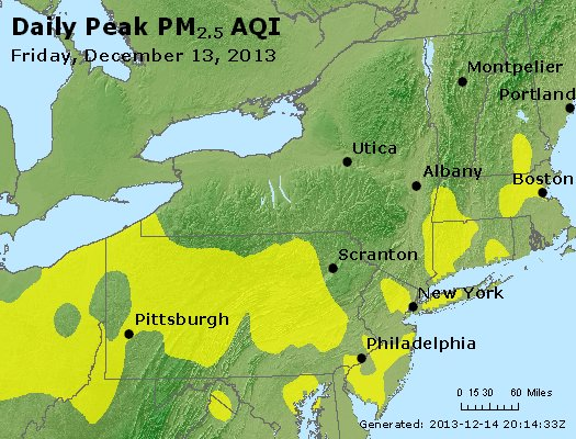 Peak Particles PM<sub>2.5</sub> (24-hour) - http://files.airnowtech.org/airnow/2013/20131213/peak_pm25_ny_pa_nj.jpg