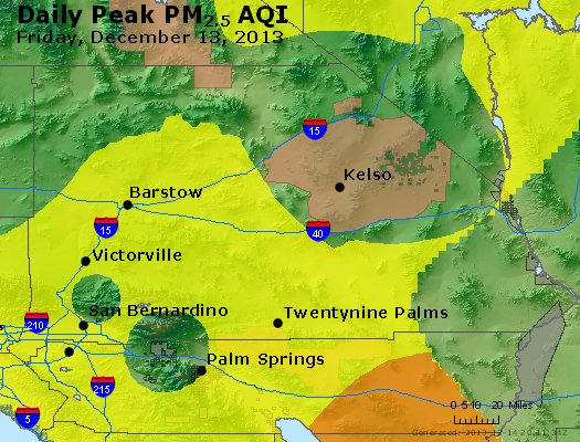 Peak Particles PM<sub>2.5</sub> (24-hour) - http://files.airnowtech.org/airnow/2013/20131213/peak_pm25_sanbernardino_ca.jpg