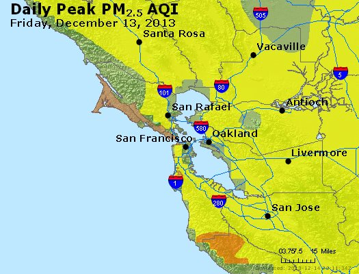 Peak Particles PM<sub>2.5</sub> (24-hour) - http://files.airnowtech.org/airnow/2013/20131213/peak_pm25_sanfrancisco_ca.jpg