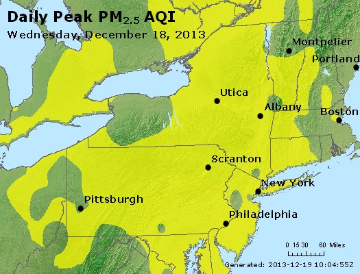 Peak Particles PM<sub>2.5</sub> (24-hour) - http://files.airnowtech.org/airnow/2013/20131218/peak_pm25_ny_pa_nj.jpg