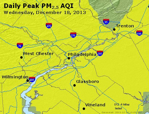 Peak Particles PM<sub>2.5</sub> (24-hour) - http://files.airnowtech.org/airnow/2013/20131218/peak_pm25_philadelphia_pa.jpg