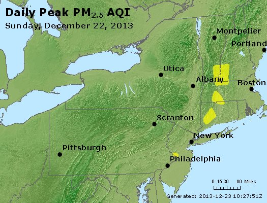 Peak Particles PM<sub>2.5</sub> (24-hour) - http://files.airnowtech.org/airnow/2013/20131222/peak_pm25_ny_pa_nj.jpg