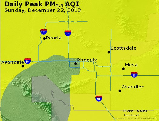 Peak Particles PM<sub>2.5</sub> (24-hour) - http://files.airnowtech.org/airnow/2013/20131222/peak_pm25_phoenix_az.jpg