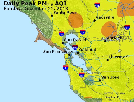 Peak Particles PM<sub>2.5</sub> (24-hour) - http://files.airnowtech.org/airnow/2013/20131222/peak_pm25_sanfrancisco_ca.jpg