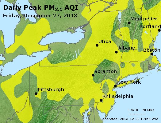 Peak Particles PM<sub>2.5</sub> (24-hour) - http://files.airnowtech.org/airnow/2013/20131227/peak_pm25_ny_pa_nj.jpg