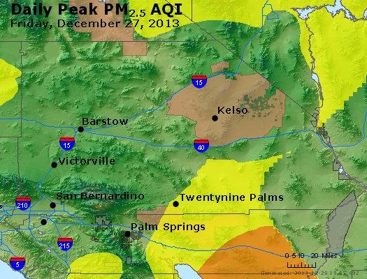 Peak Particles PM<sub>2.5</sub> (24-hour) - http://files.airnowtech.org/airnow/2013/20131227/peak_pm25_sanbernardino_ca.jpg