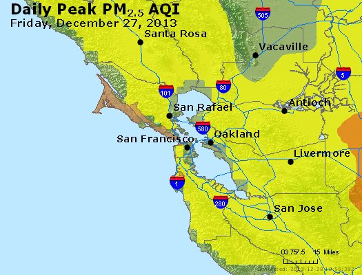 Peak Particles PM<sub>2.5</sub> (24-hour) - http://files.airnowtech.org/airnow/2013/20131227/peak_pm25_sanfrancisco_ca.jpg