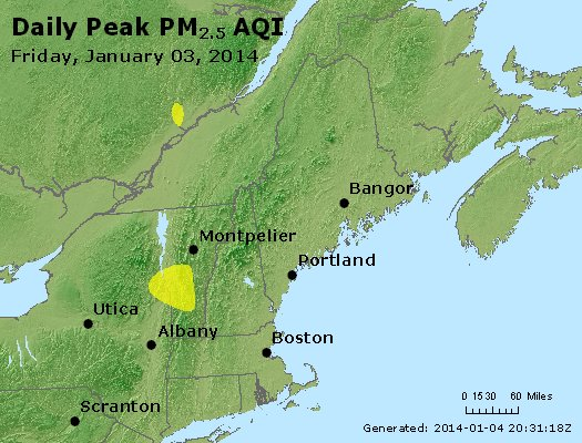 Peak Particles PM<sub>2.5</sub> (24-hour) - http://files.airnowtech.org/airnow/2014/20140103/peak_pm25_vt_nh_ma_ct_ri_me.jpg