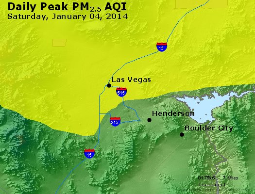 Peak Particles PM<sub>2.5</sub> (24-hour) - http://files.airnowtech.org/airnow/2014/20140104/peak_pm25_lasvegas_nv.jpg
