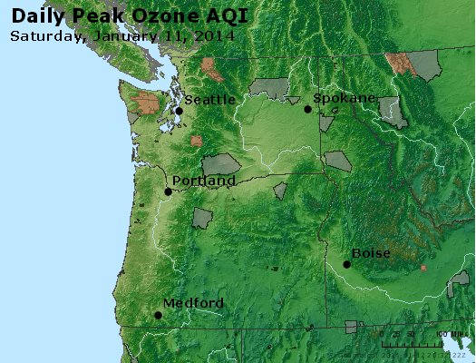 Peak Ozone (8-hour) - http://files.airnowtech.org/airnow/2014/20140111/peak_o3_wa_or.jpg