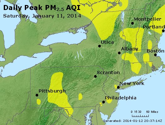 Peak Particles PM<sub>2.5</sub> (24-hour) - http://files.airnowtech.org/airnow/2014/20140111/peak_pm25_ny_pa_nj.jpg