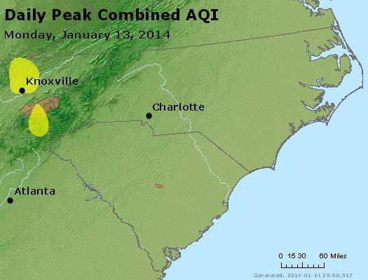 Peak AQI - http://files.airnowtech.org/airnow/2014/20140113/peak_aqi_nc_sc.jpg