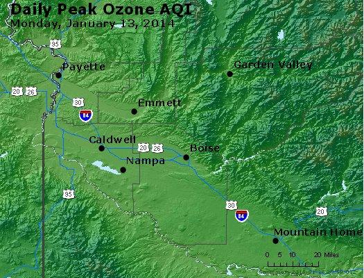 Peak Ozone (8-hour) - http://files.airnowtech.org/airnow/2014/20140113/peak_o3_boise_id.jpg