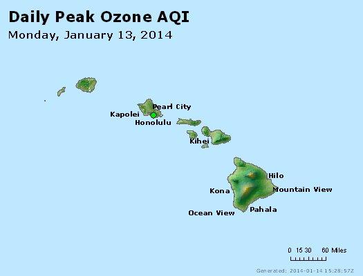 Peak Ozone (8-hour) - http://files.airnowtech.org/airnow/2014/20140113/peak_o3_hawaii.jpg