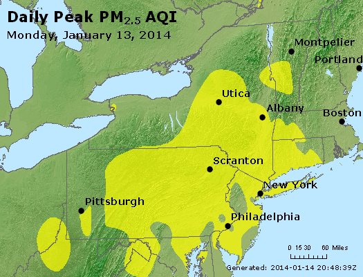 Peak Particles PM<sub>2.5</sub> (24-hour) - http://files.airnowtech.org/airnow/2014/20140113/peak_pm25_ny_pa_nj.jpg