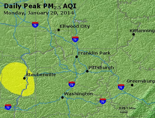Peak Particles PM<sub>2.5</sub> (24-hour) - http://files.airnowtech.org/airnow/2014/20140120/peak_pm25_pittsburgh_pa.jpg