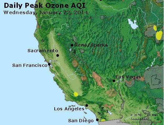 Peak Ozone (8-hour) - http://files.airnowtech.org/airnow/2014/20140122/peak_o3_ca_nv.jpg