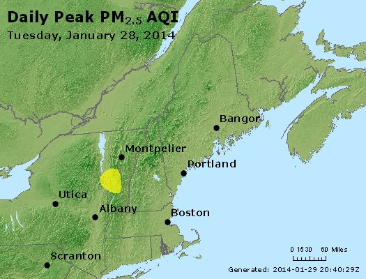 Peak Particles PM<sub>2.5</sub> (24-hour) - http://files.airnowtech.org/airnow/2014/20140128/peak_pm25_vt_nh_ma_ct_ri_me.jpg