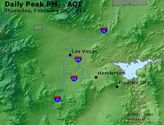 Peak Particles PM<sub>2.5</sub> (24-hour) - http://files.airnowtech.org/airnow/2014/20140206/peak_pm25_lasvegas_nv.jpg