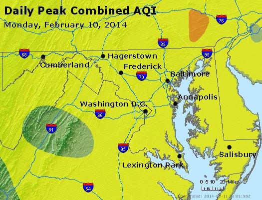 Peak AQI - http://files.airnowtech.org/airnow/2014/20140210/peak_aqi_maryland.jpg