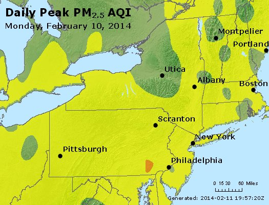 Peak Particles PM<sub>2.5</sub> (24-hour) - http://files.airnowtech.org/airnow/2014/20140210/peak_pm25_ny_pa_nj.jpg