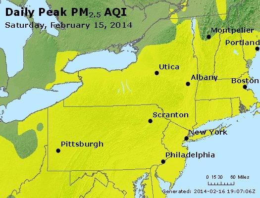 Peak Particles PM<sub>2.5</sub> (24-hour) - http://files.airnowtech.org/airnow/2014/20140215/peak_pm25_ny_pa_nj.jpg