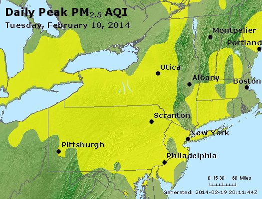 Peak Particles PM<sub>2.5</sub> (24-hour) - http://files.airnowtech.org/airnow/2014/20140218/peak_pm25_ny_pa_nj.jpg