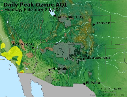 Peak Ozone (8-hour) - http://files.airnowtech.org/airnow/2014/20140224/peak_o3_co_ut_az_nm.jpg
