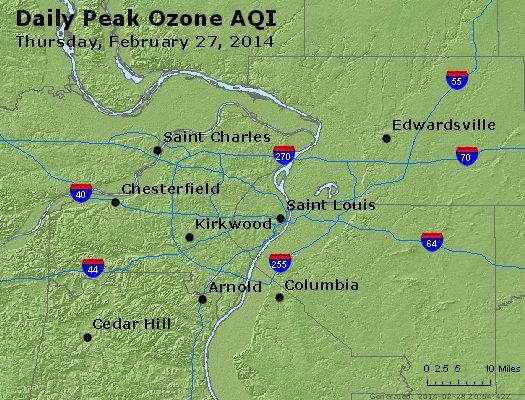 Peak Ozone (8-hour) - http://files.airnowtech.org/airnow/2014/20140227/peak_o3_stlouis_mo.jpg
