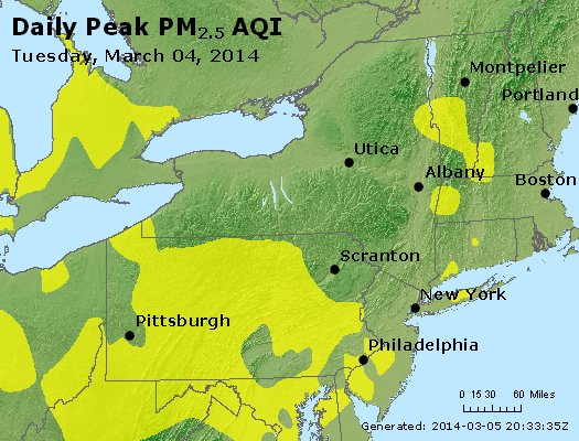 Peak Particles PM<sub>2.5</sub> (24-hour) - http://files.airnowtech.org/airnow/2014/20140304/peak_pm25_ny_pa_nj.jpg
