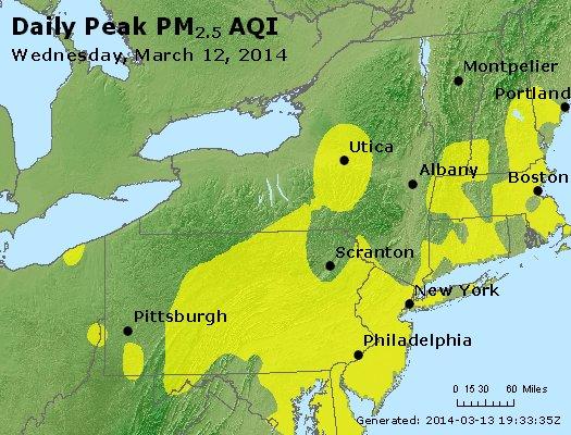 Peak Particles PM<sub>2.5</sub> (24-hour) - http://files.airnowtech.org/airnow/2014/20140312/peak_pm25_ny_pa_nj.jpg