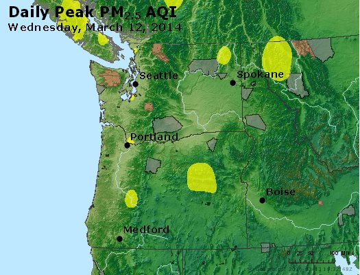 Peak Particles PM<sub>2.5</sub> (24-hour) - http://files.airnowtech.org/airnow/2014/20140312/peak_pm25_wa_or.jpg
