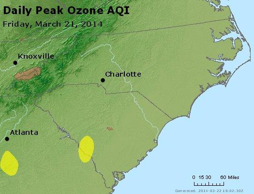 Peak Ozone (8-hour) - http://files.airnowtech.org/airnow/2014/20140321/peak_o3_nc_sc.jpg