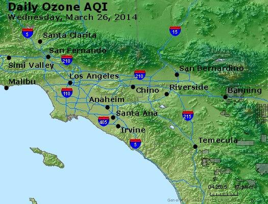 Peak Ozone (8-hour) - http://files.airnowtech.org/airnow/2014/20140326/peak_o3_losangeles_ca.jpg