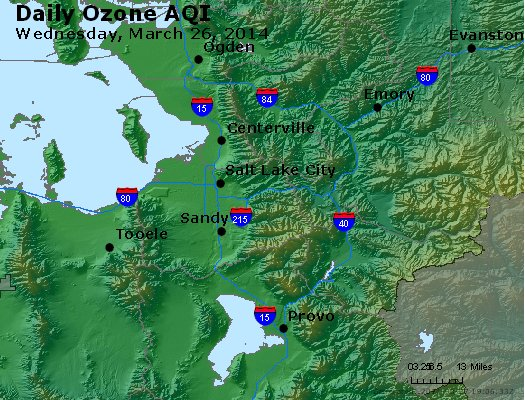 Peak Ozone (8-hour) - http://files.airnowtech.org/airnow/2014/20140326/peak_o3_saltlakecity_ut.jpg