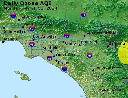 Peak Ozone (8-hour) - http://files.airnowtech.org/airnow/2014/20140331/peak_o3_losangeles_ca.jpg
