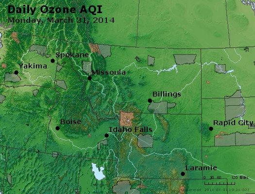 Peak Ozone (8-hour) - http://files.airnowtech.org/airnow/2014/20140331/peak_o3_mt_id_wy.jpg