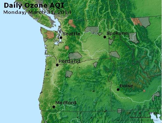 Peak Ozone (8-hour) - http://files.airnowtech.org/airnow/2014/20140331/peak_o3_wa_or.jpg