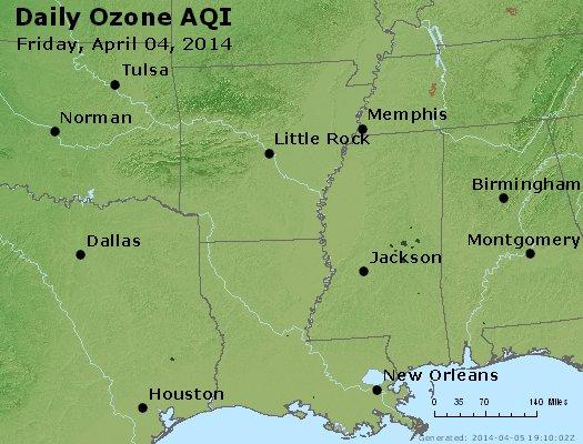 Peak Ozone (8-hour) - http://files.airnowtech.org/airnow/2014/20140404/peak_o3_ar_la_ms.jpg
