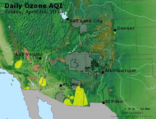Peak Ozone (8-hour) - http://files.airnowtech.org/airnow/2014/20140404/peak_o3_co_ut_az_nm.jpg