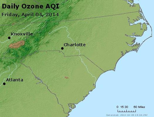 Peak Ozone (8-hour) - http://files.airnowtech.org/airnow/2014/20140404/peak_o3_nc_sc.jpg