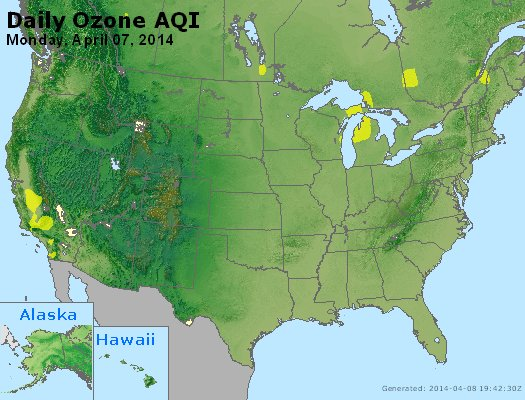 Peak Ozone (8-hour) - http://files.airnowtech.org/airnow/2014/20140407/peak_o3_usa.jpg