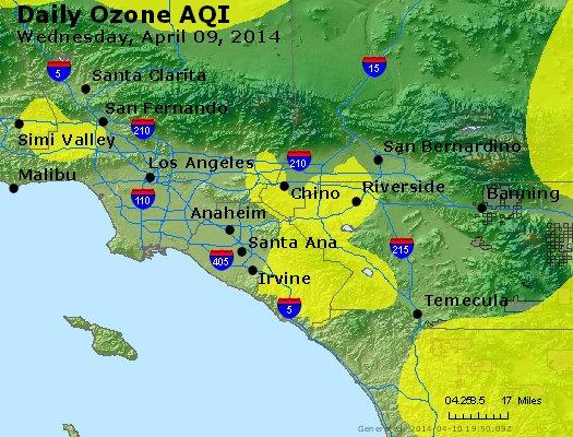 Peak Ozone (8-hour) - http://files.airnowtech.org/airnow/2014/20140409/peak_o3_losangeles_ca.jpg