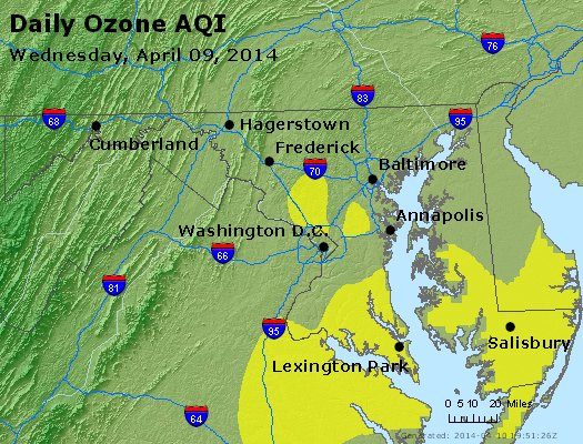 Peak Ozone (8-hour) - http://files.airnowtech.org/airnow/2014/20140409/peak_o3_maryland.jpg