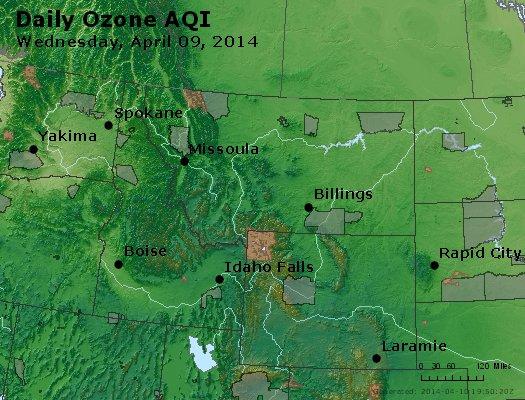 Peak Ozone (8-hour) - http://files.airnowtech.org/airnow/2014/20140409/peak_o3_mt_id_wy.jpg