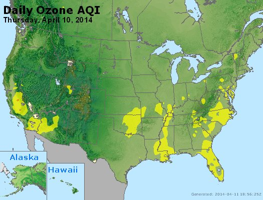 Peak Ozone (8-hour) - http://files.airnowtech.org/airnow/2014/20140410/peak_o3_usa.jpg